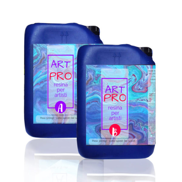 ART PRO CLEAR RESIN FOR POUR PAINT/FLOORS 8.3 KG [18,29 LB]