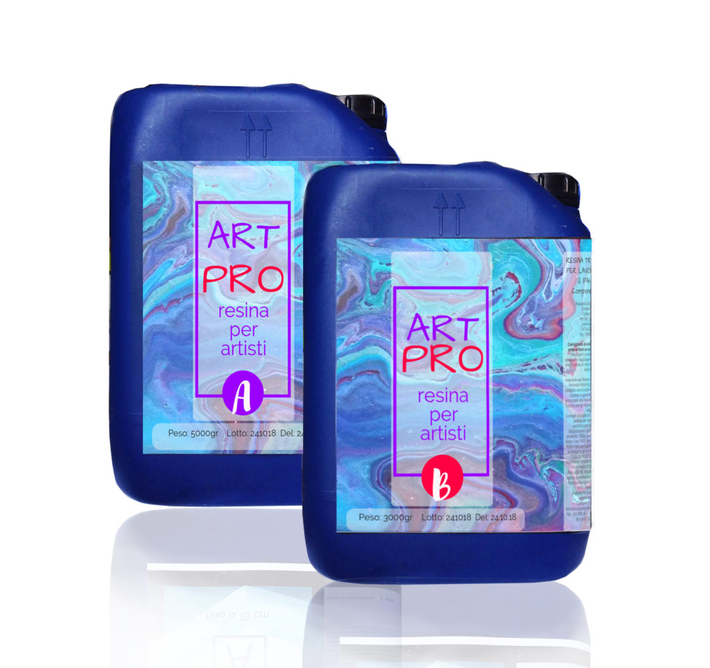 ART PRO Resina epossidica trasparente Atossica alta viscosità 8 KG