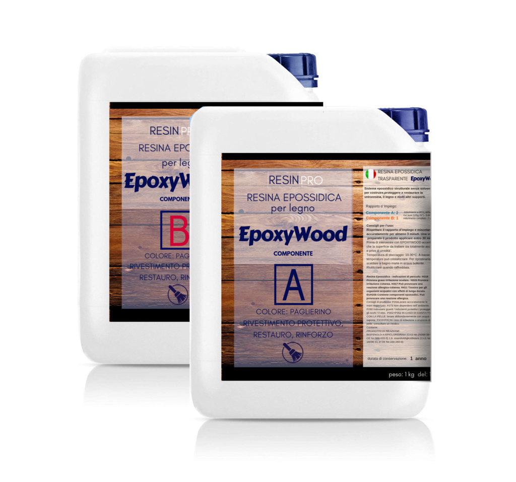 EPOXYWOOD 7.5 KG Resina Epossidica per Legno - Rivestimento protettivo