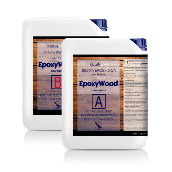 """EPOXYWOOD"" Epoxy Resin for Wood 7,5 kg [16,53 lb]- Protective coating, Restoration, Reinforcement"
