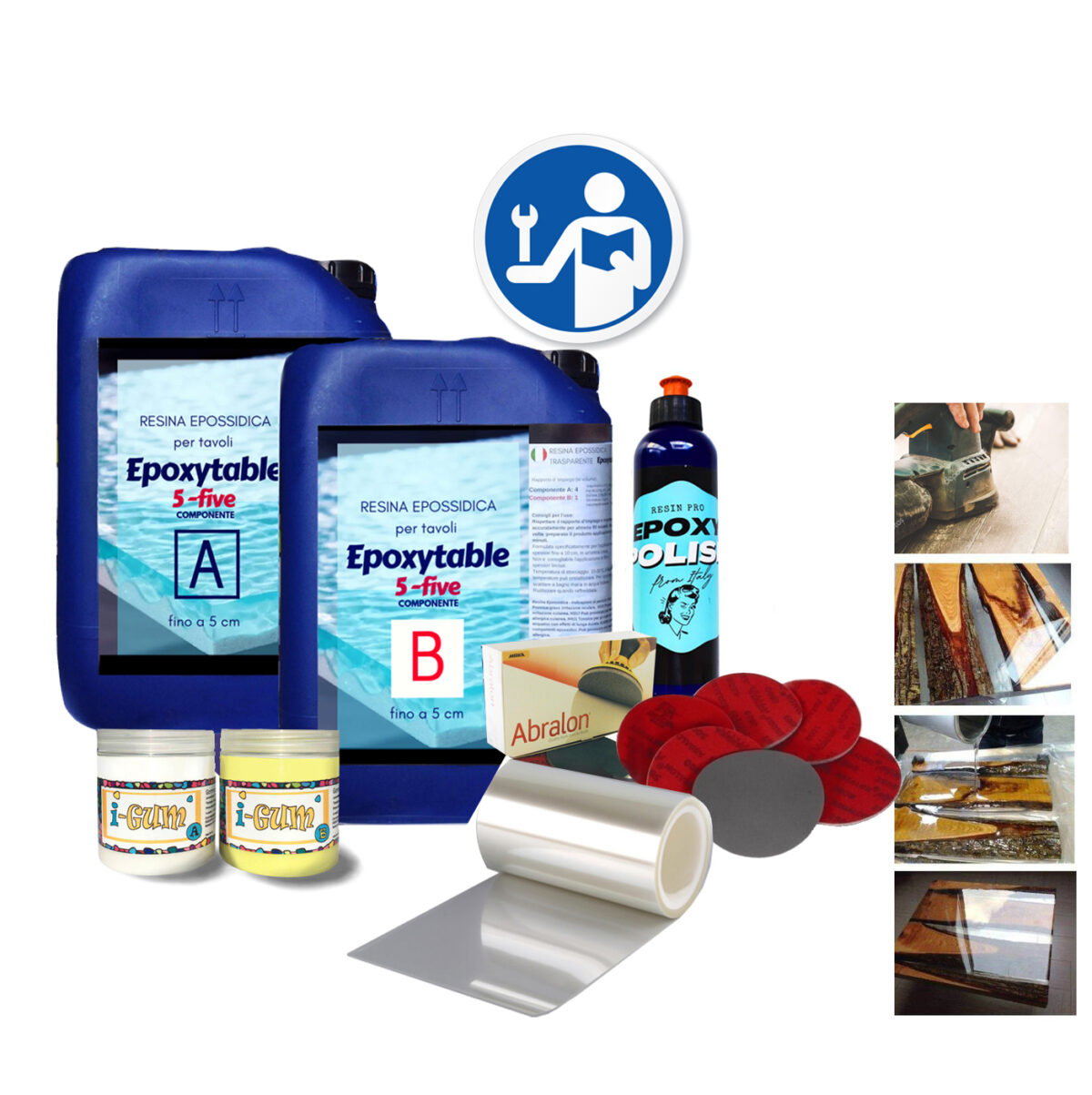 BEGINNER KIT EPOXYTABLE for resin tables & crafts
