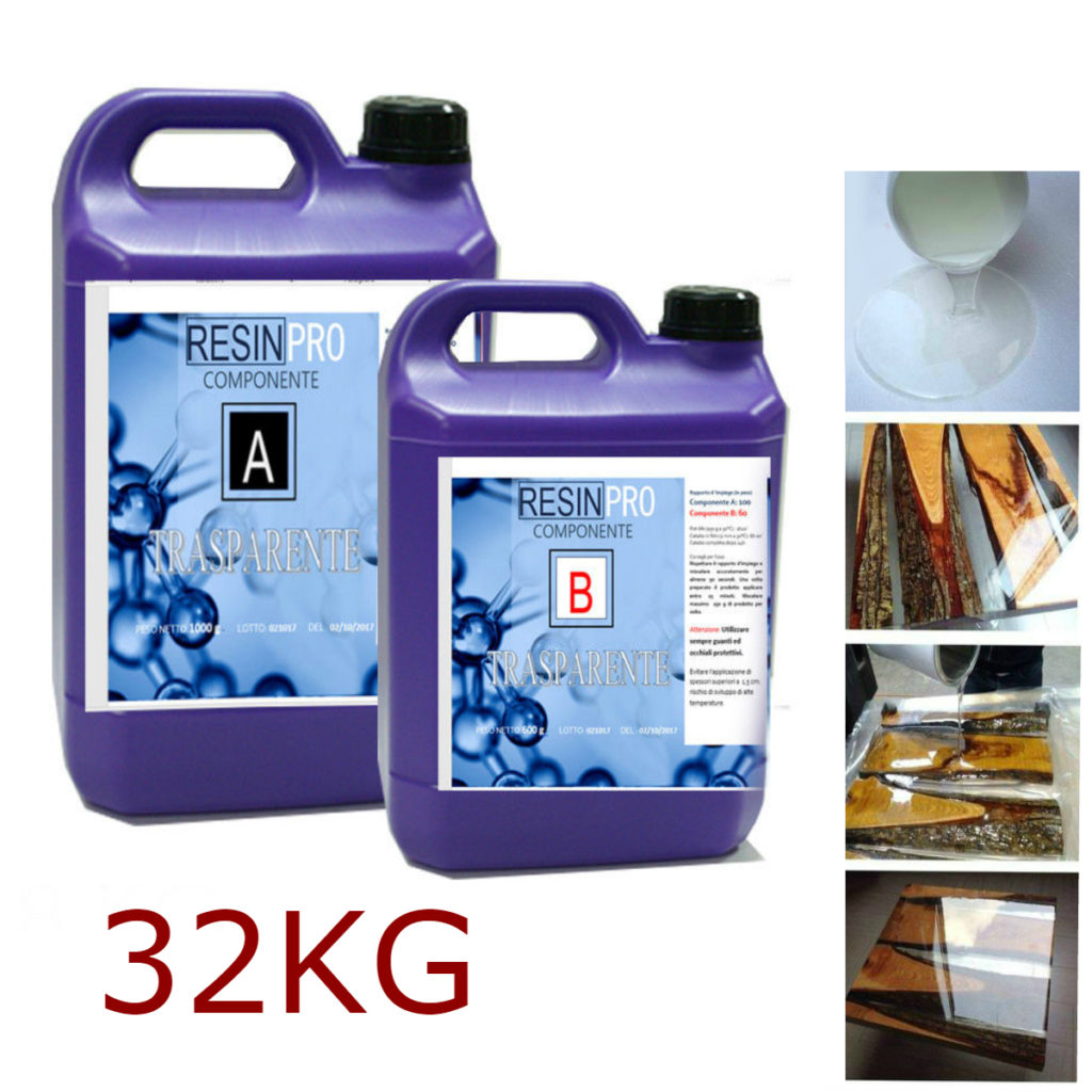 Non-toxic Ultra Transparent Epoxy Resin 32 KG [70,54 LB]