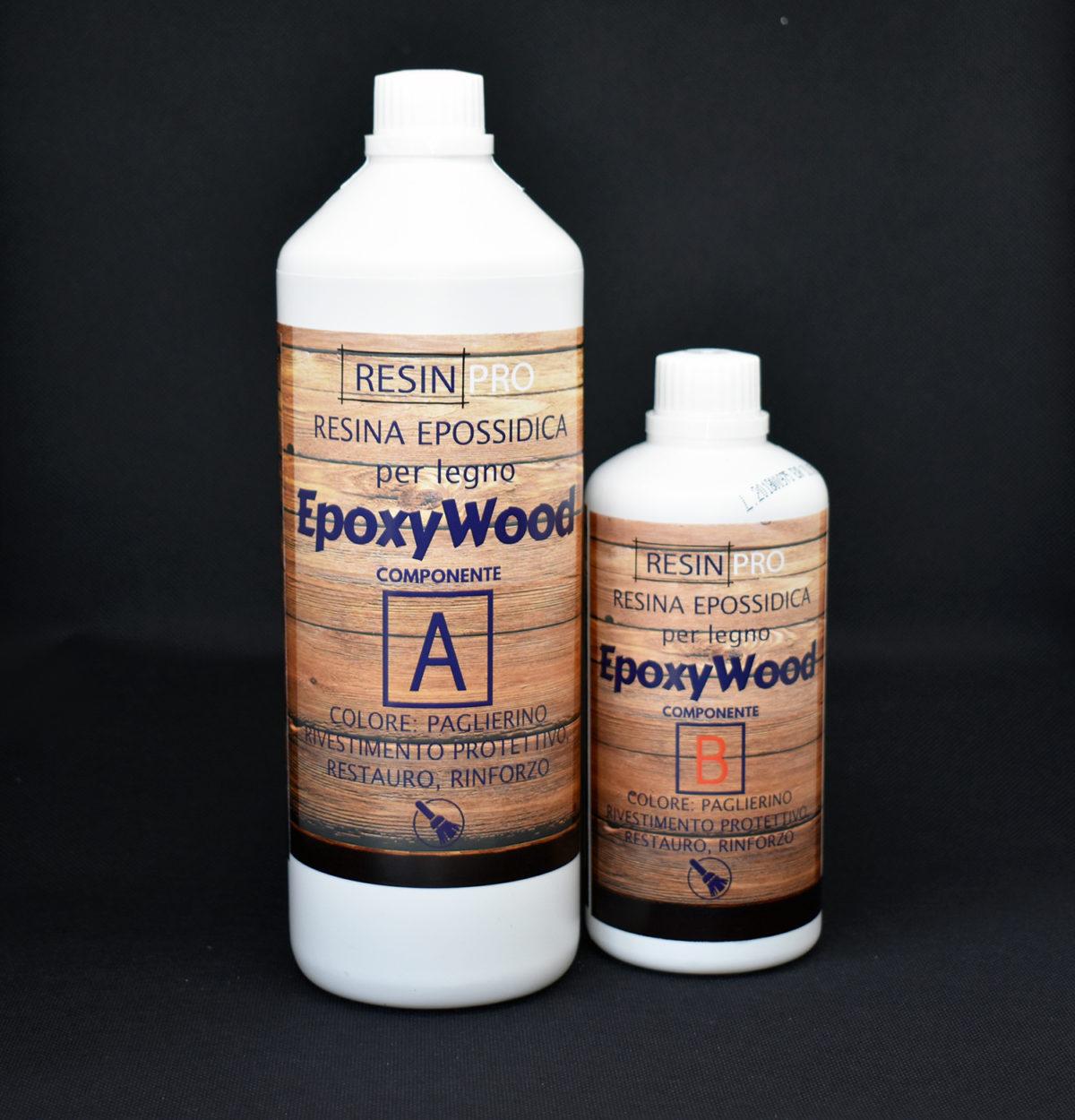 """EPOXYWOOD"" Epoxy Resin for Wood 1,5 kg [3,30 lb] - Protective coating, Restoration, Reinforcement"