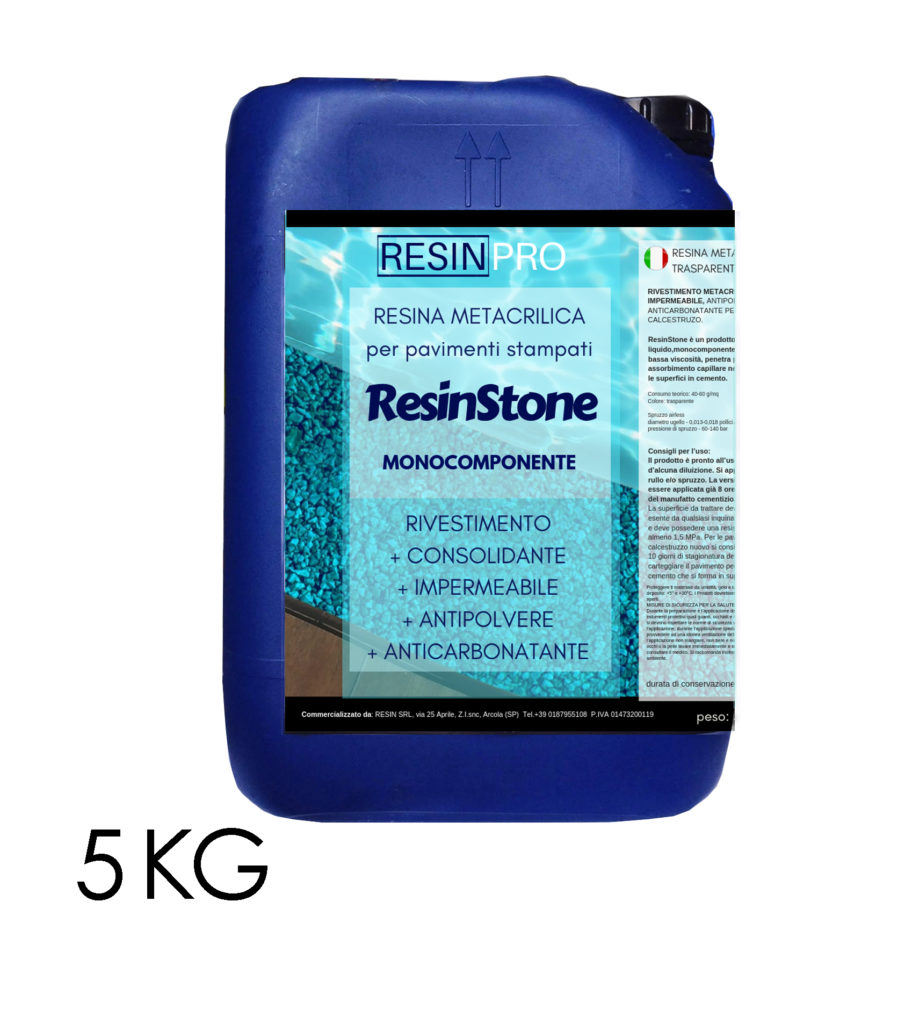 "ONE-COMPONENT METHACRYLIC RESIN ""RESINSTONE"" for stamped floors 5 KG [11,02 LB]"