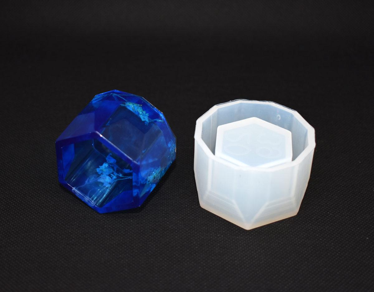 Small Glass Jewellery Box Silicone mould