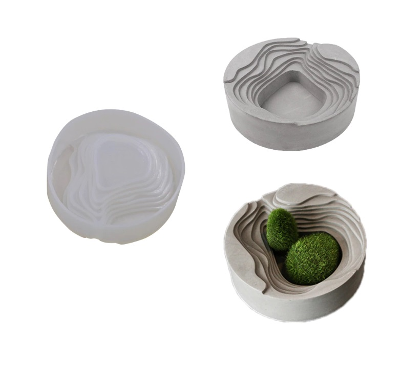 Round Jewellery Box / Flower Vase Silicone mould