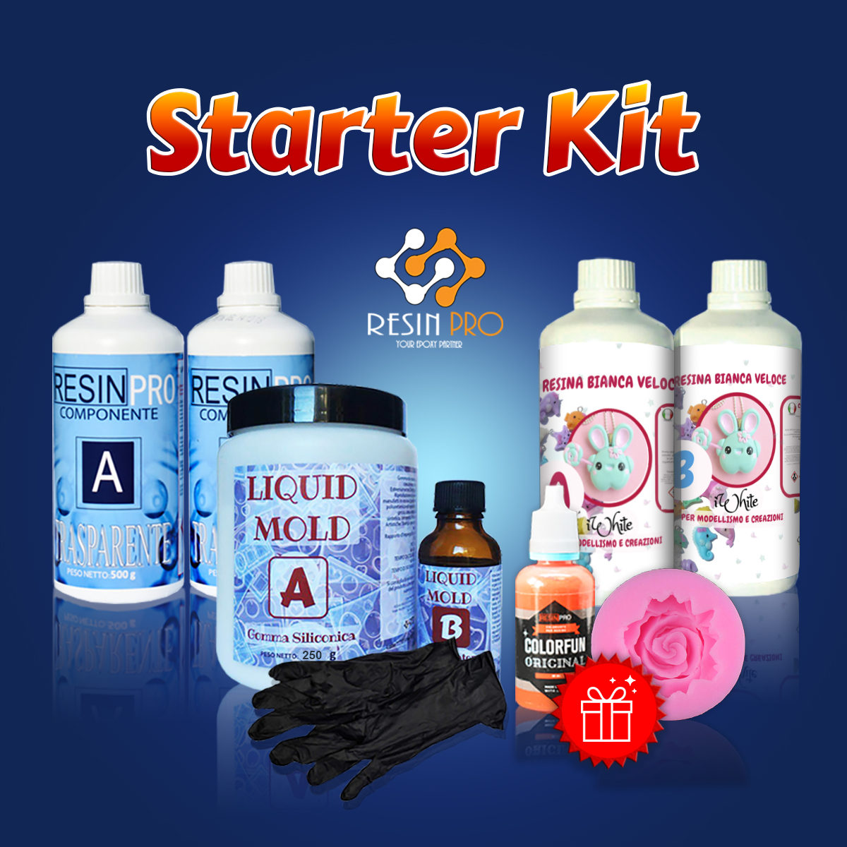 STARTER KIT PRO with Silicone rubber for casting