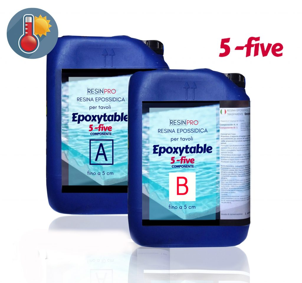 EPOXYTABLE 5-FIVE EPOXY RESIN FOR TABLES 36 KG [79,37 LB]