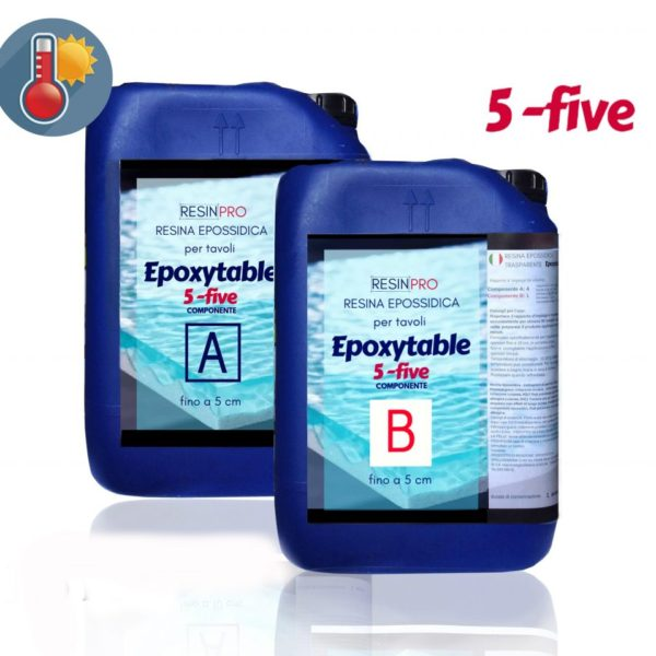 EPOXYTABLE 5-FIVE EPOXY RESIN FOR TABLES 18 KG [39,68 LB]