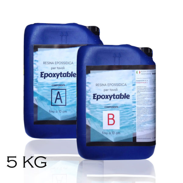 EPOXYTABLE Resina epossidica Atossica per tavoli 5 KG