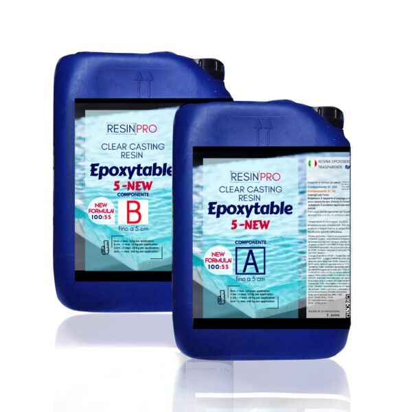EPOXYTABLE 5-FIVE EPOXY RESIN FOR TABLES 9 KG [19,84 LB]