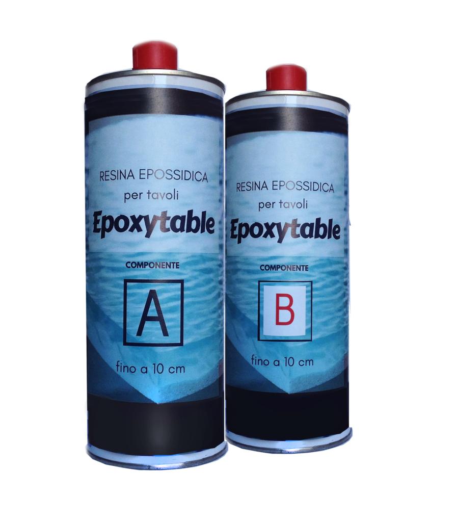 EPOXYTABLE Resina epossidica Atossica per tavoli 1.25 KG