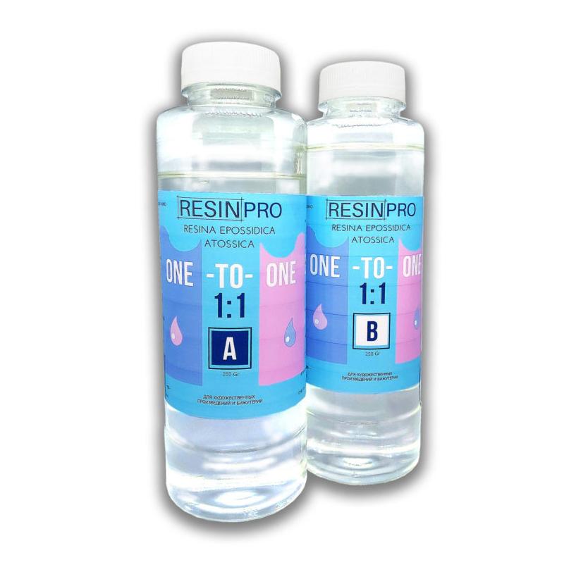 Non-Toxic Transparent Epoxy Resin 500 gr [1,10 lb] Media Viscosity 1:1