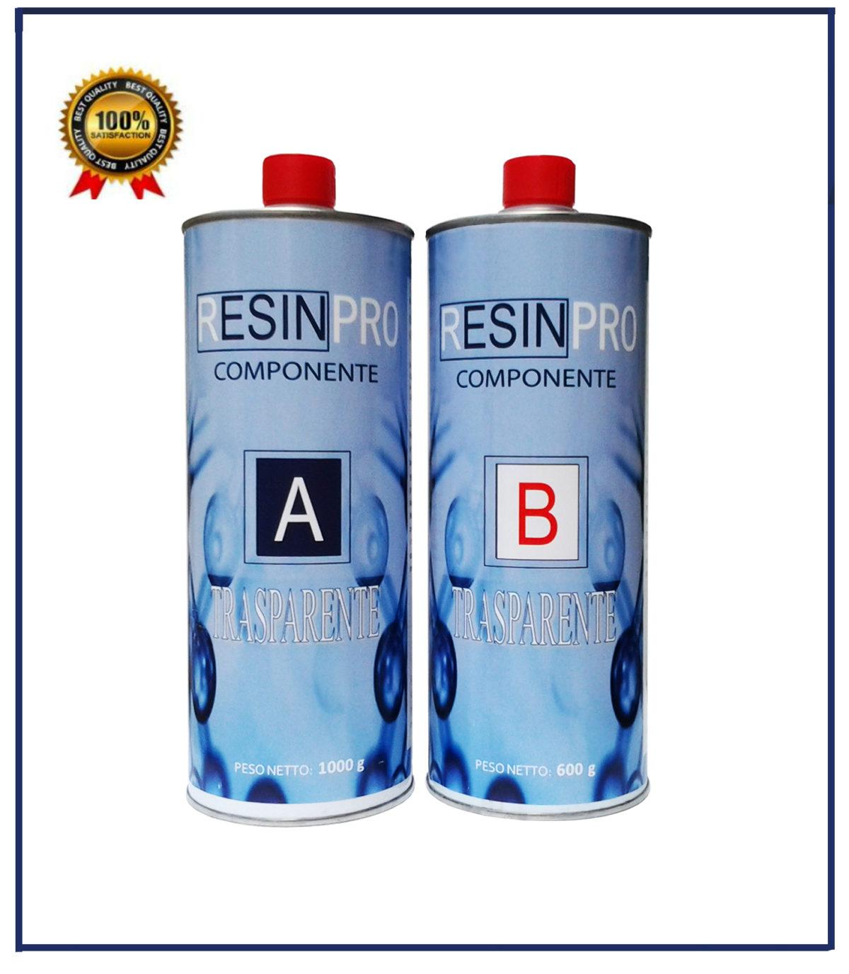 TRANSPARENT EPOXY RESIN 1.6 KG [3,52 LB]