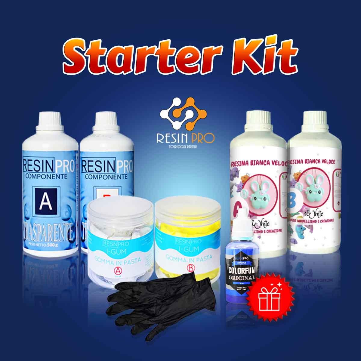 STARTER KIT with Silicone rubber in paste for moulds