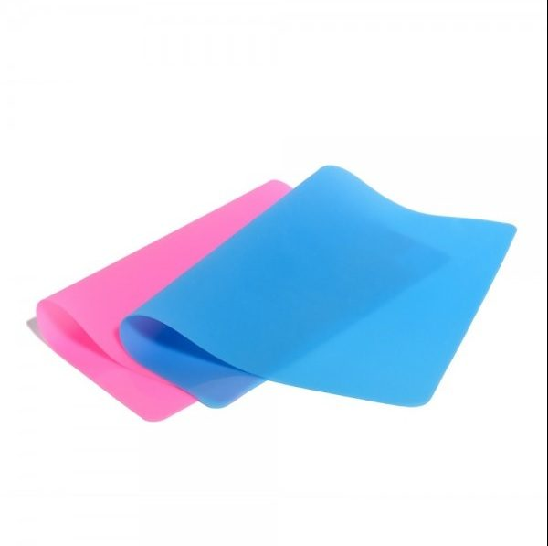 Silicone mat blue/pink