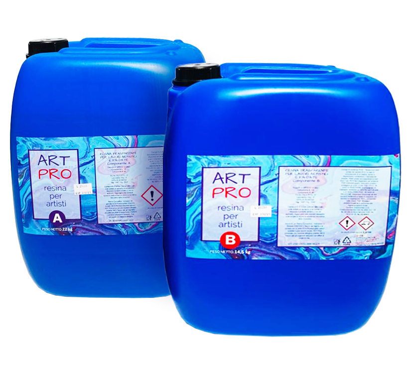 ART PRO CLEAR RESIN FOR TOP COAT/FLOORS 36,5 KG [14,37 LB]