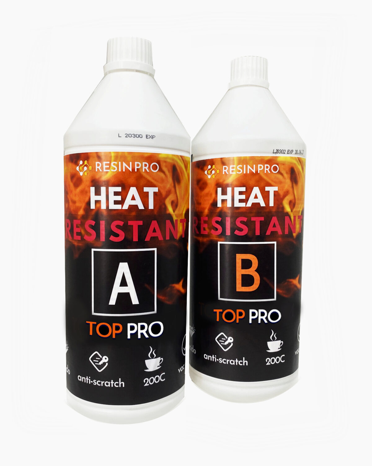 """TOP PRO"" FLEXIBLE HEAT-RESISTANT ANTI-SCRATCH GLOSSY COATING"