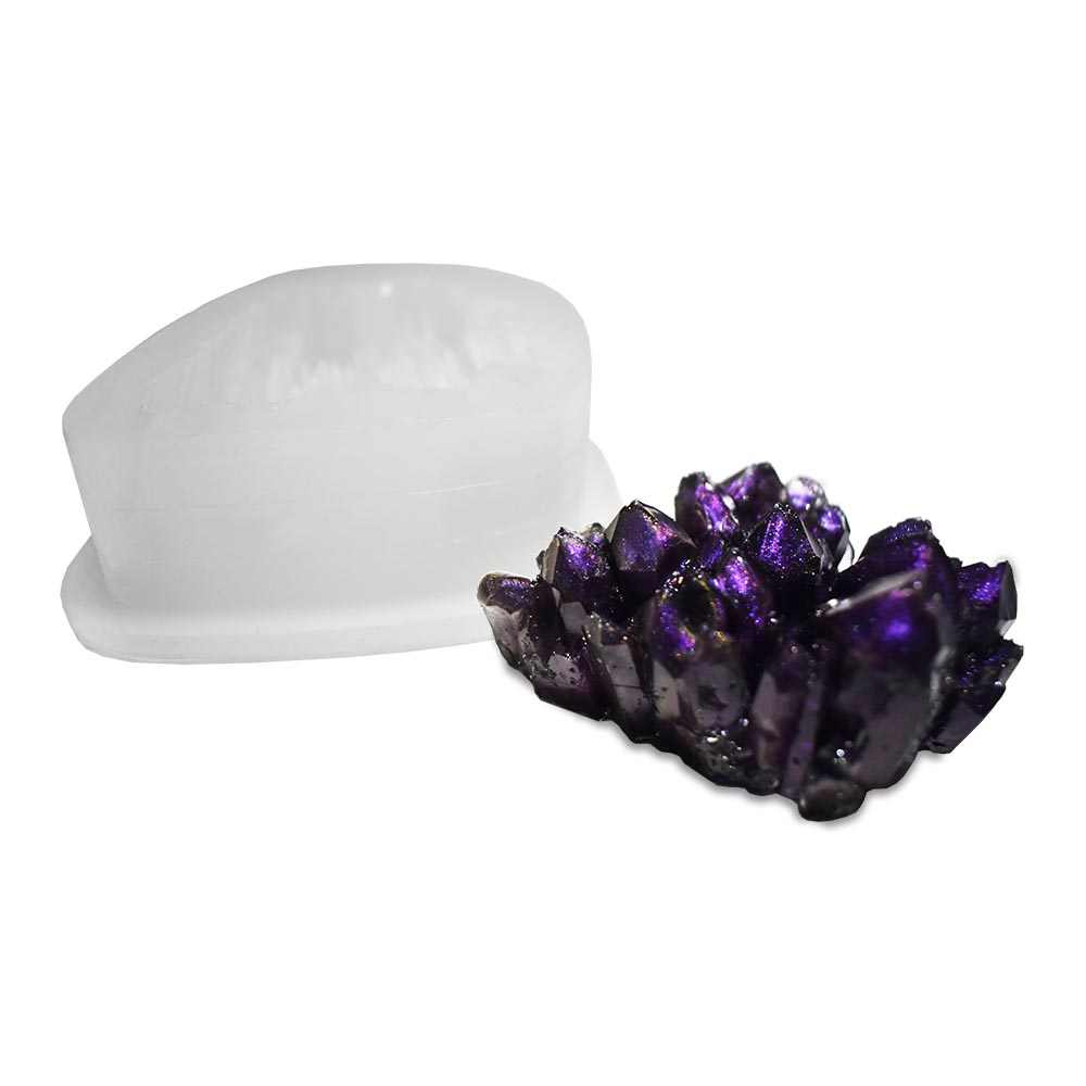 Amethyst crystal silicone mould