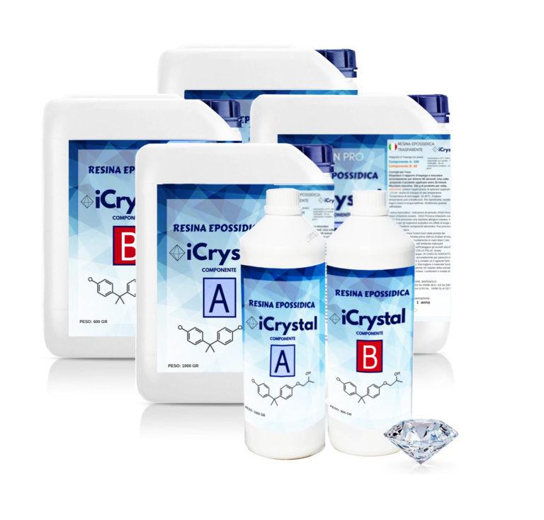 ICRYSTAL – Transparent epoxy resin 1.5 kg – 3kg - 6kg – New formula