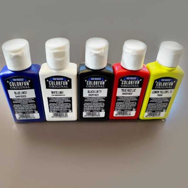 COLOURING PASTES SET TRANSLUCENT EFFECT- 5 x 25 ml [0,87 oz]