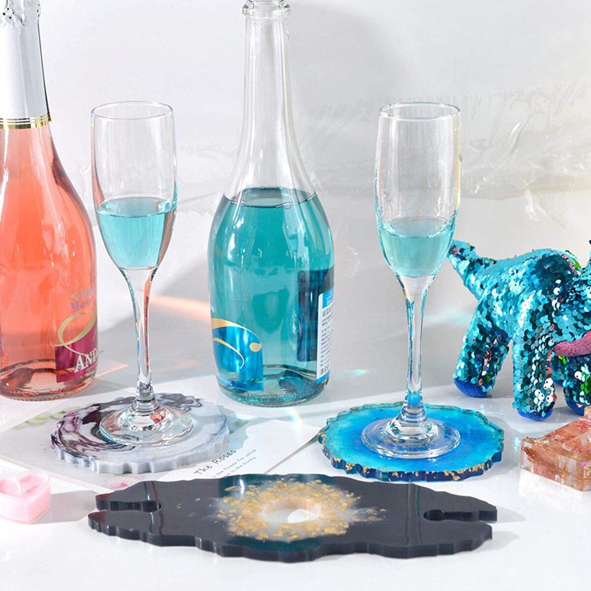 """Set """"Bottle holder mould + 2 coasters"""""""