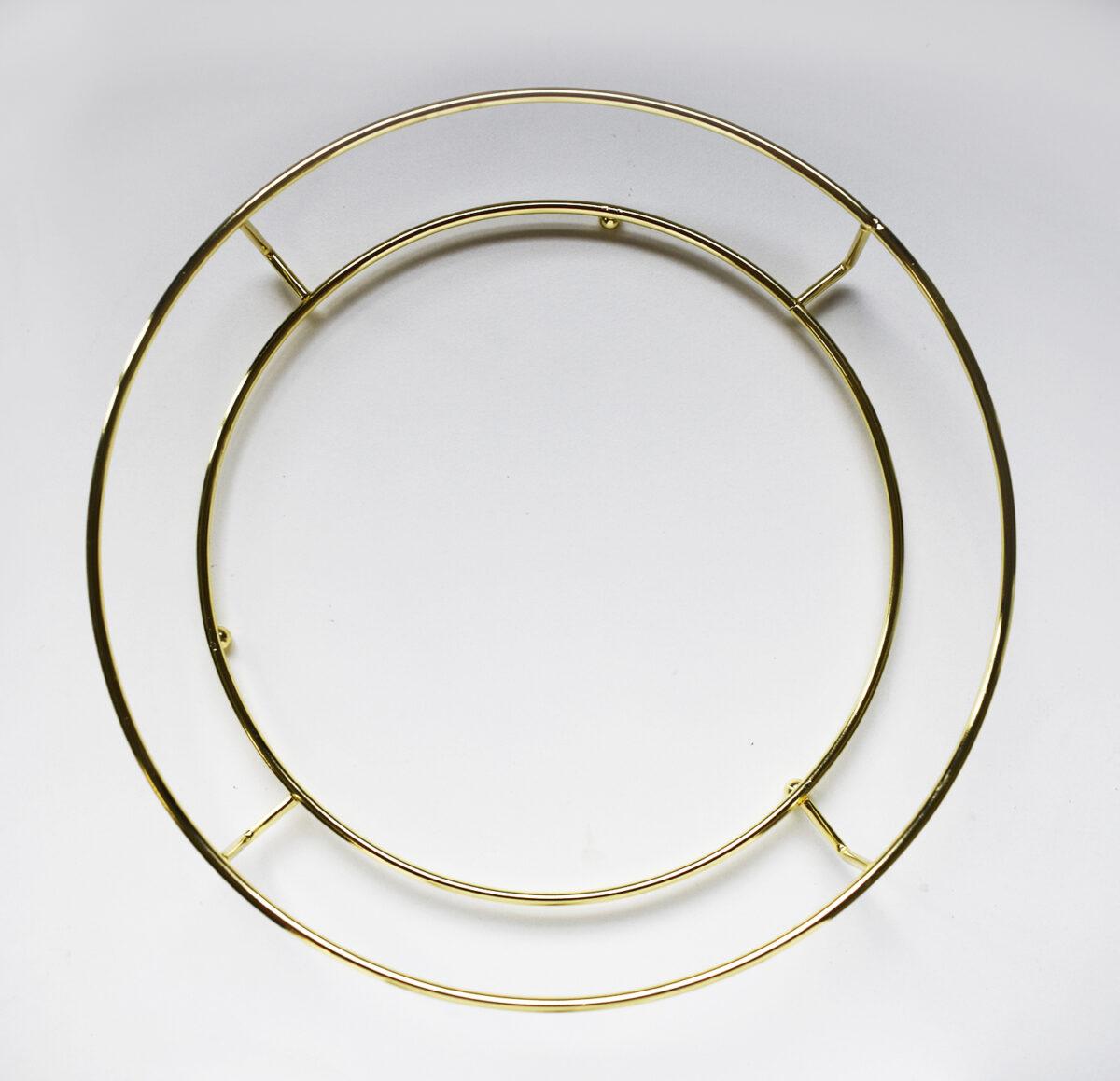 Round metal tray holder