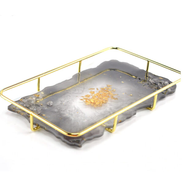 Rectangular metal tray holder