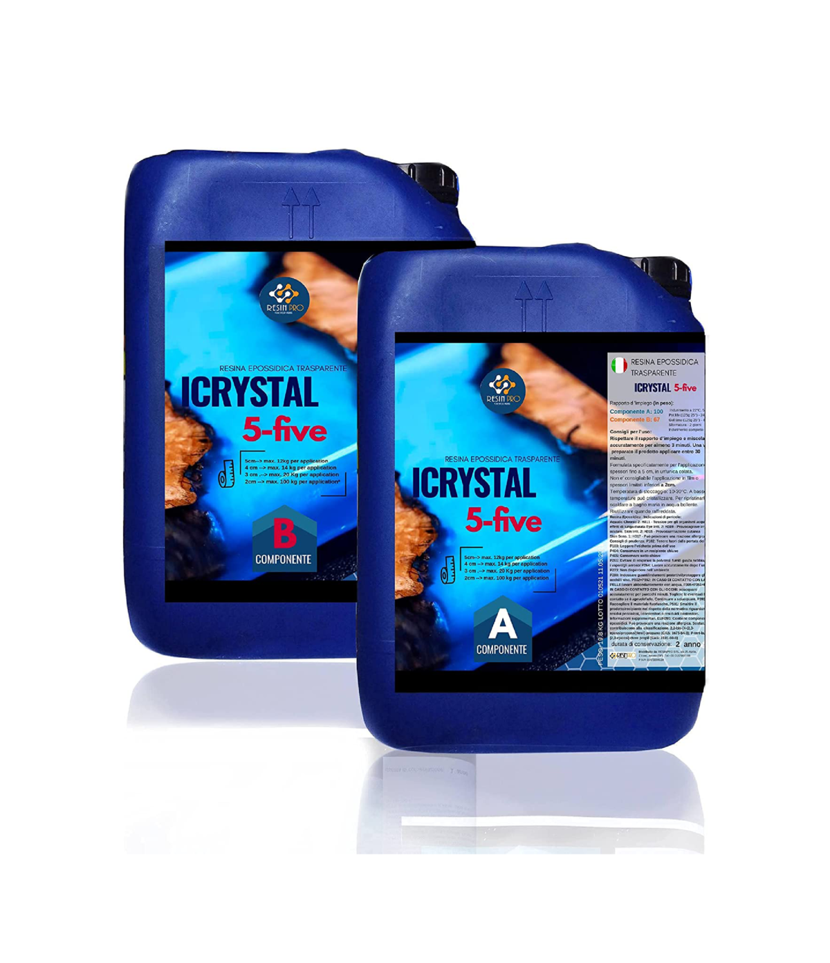 iCrystal 5-Five FOR TABLES 33 KG [72,75 lb]