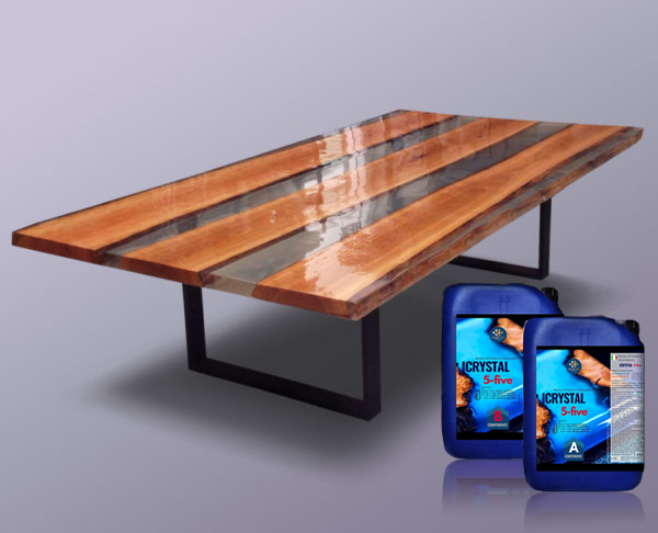 Kit for wooden and resin tables